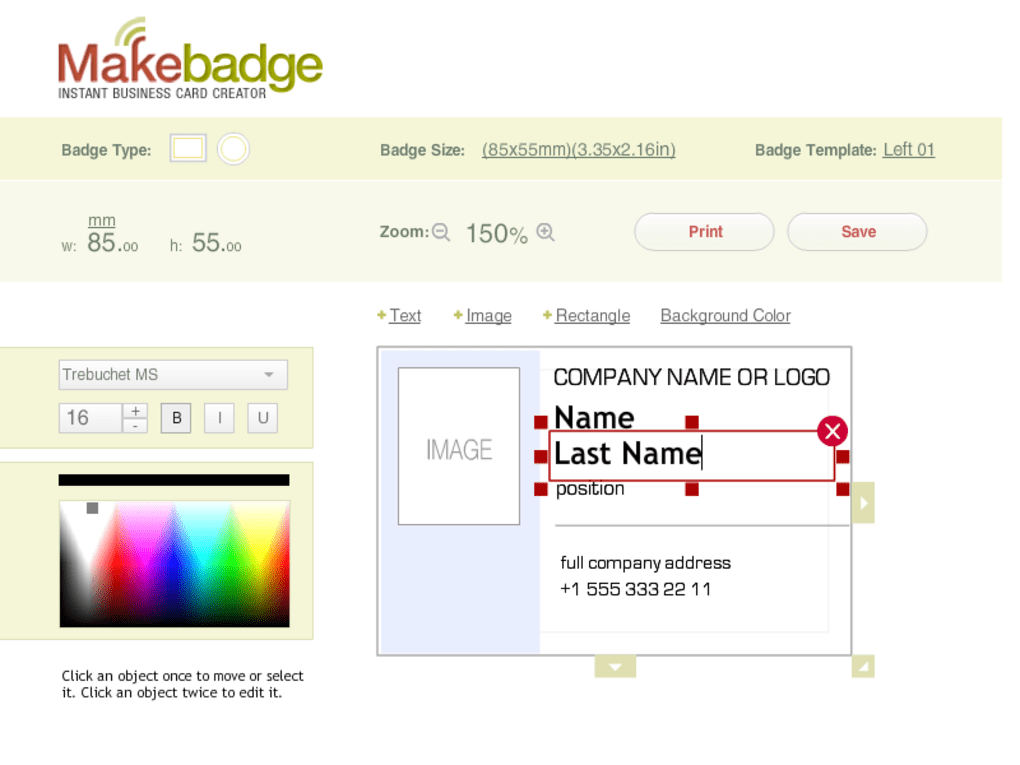 MakeBadge Badge Maker Online
