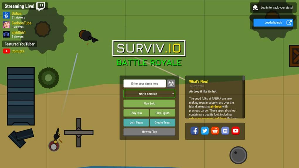 Surviv io battle royale
