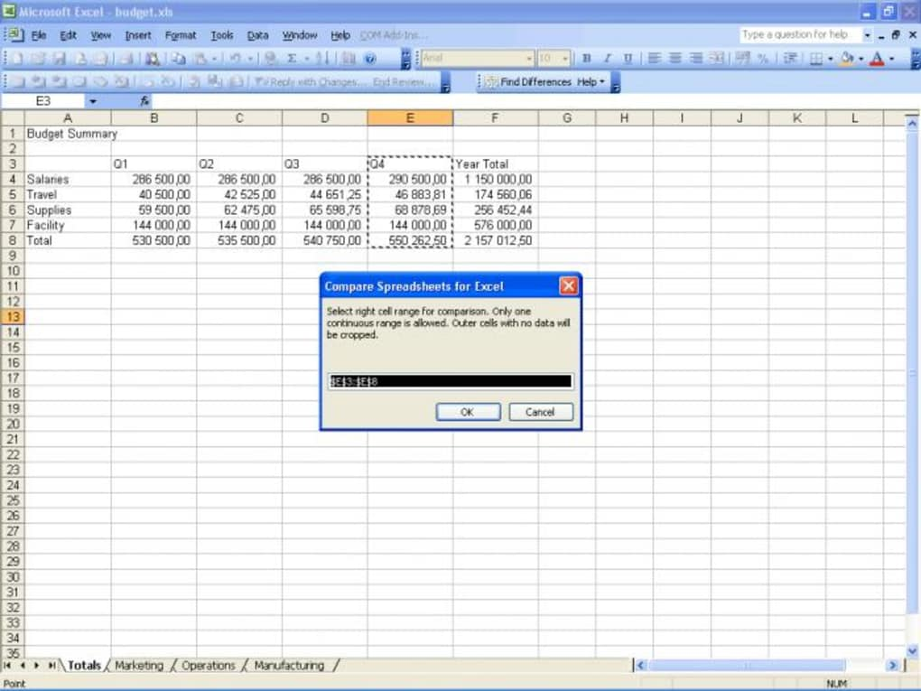 compare spreadsheets for excel t l charger. Black Bedroom Furniture Sets. Home Design Ideas