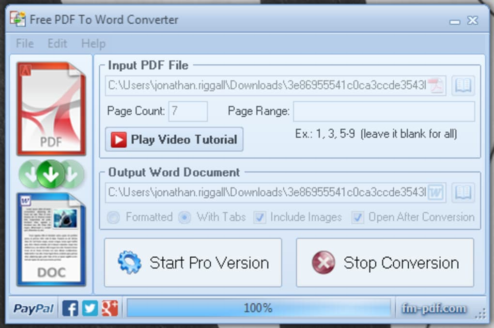 PDF To Word Converter Free - Télécharger