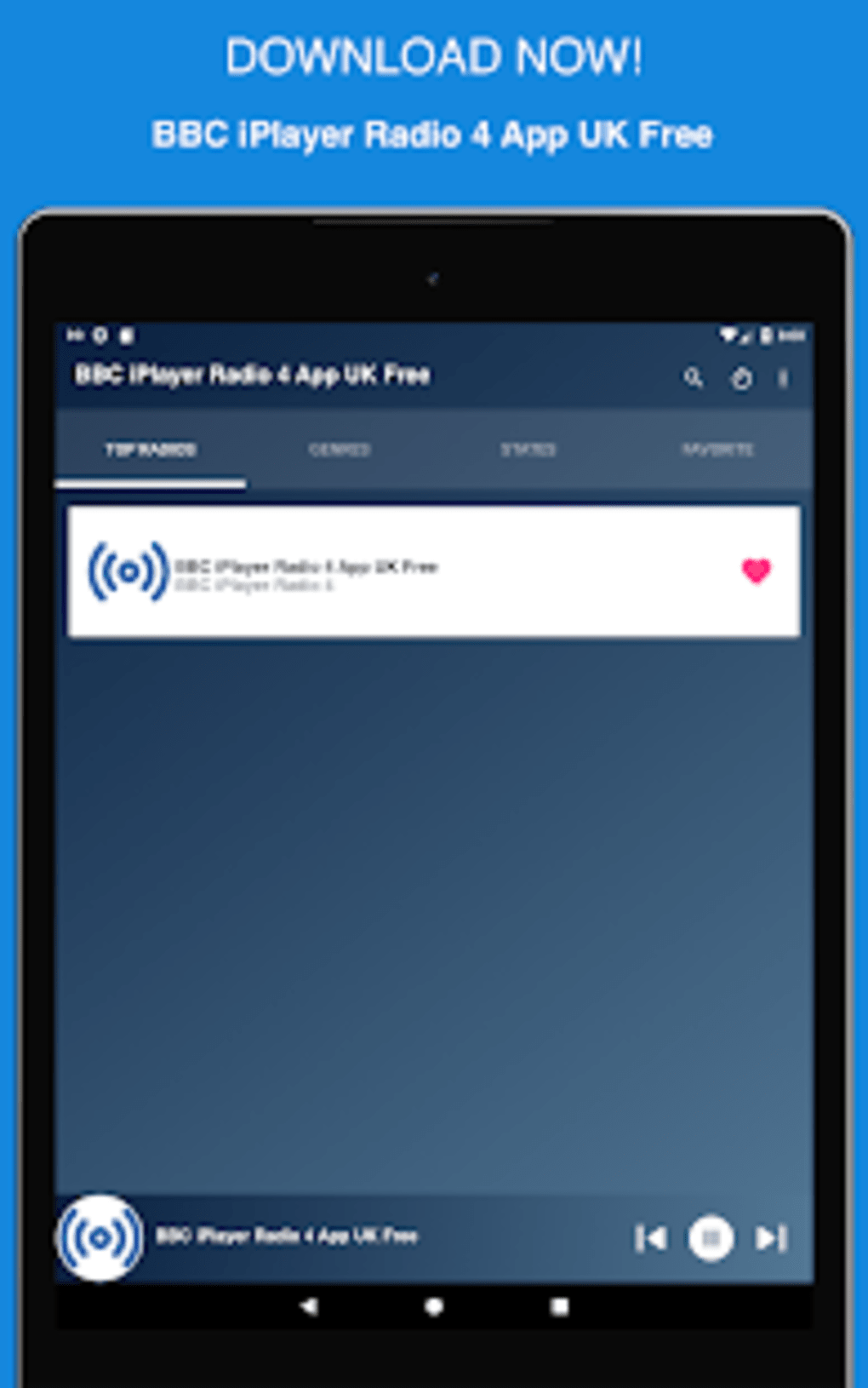 BBC iPlayer Radio 4 App UK Free for Android - Download