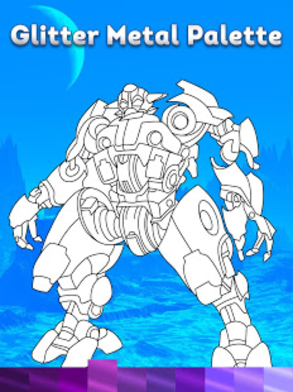 Robots Coloring Pages with Animated Effects for Android - Download