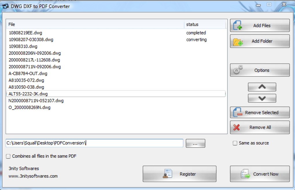 DWG DXF to PDF Converter - Download