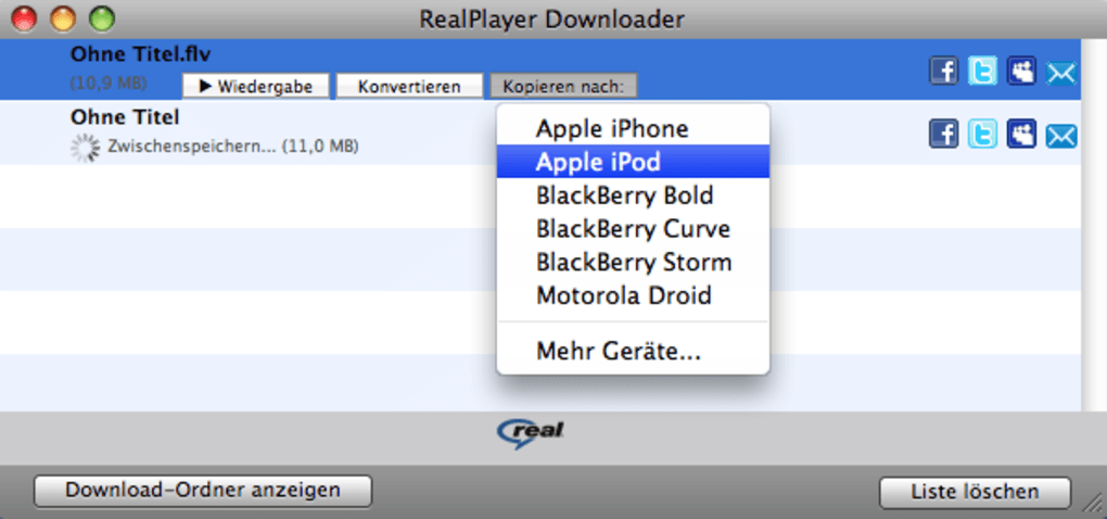 real player 11 for mac free download