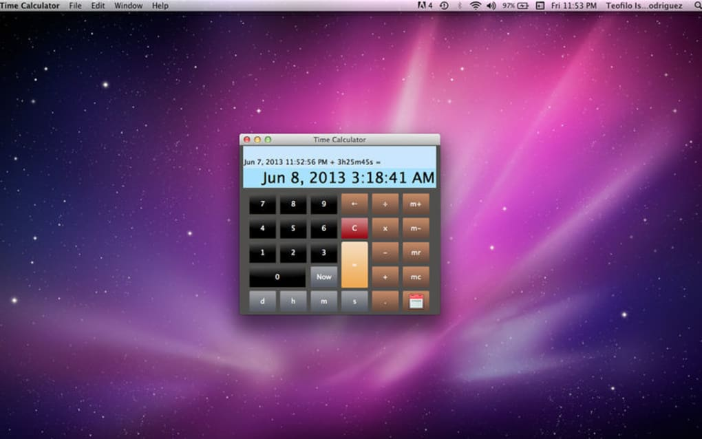 Time Calculator for Mac - Download