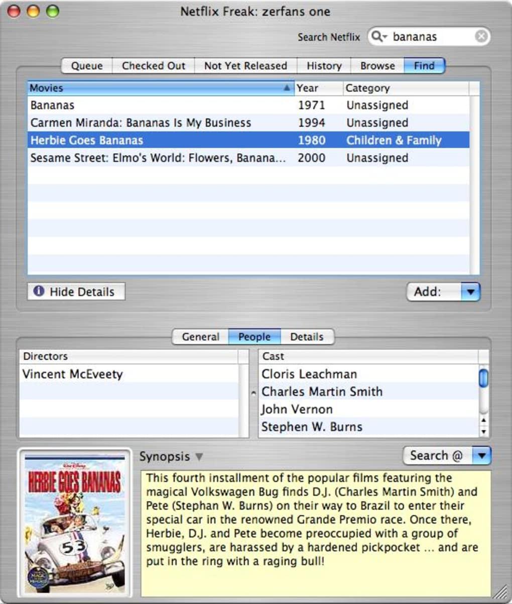 Netflix Freak for Mac - Download