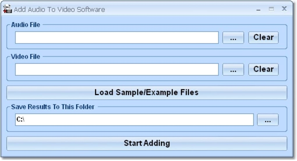 Add Audio To Video Software - Download