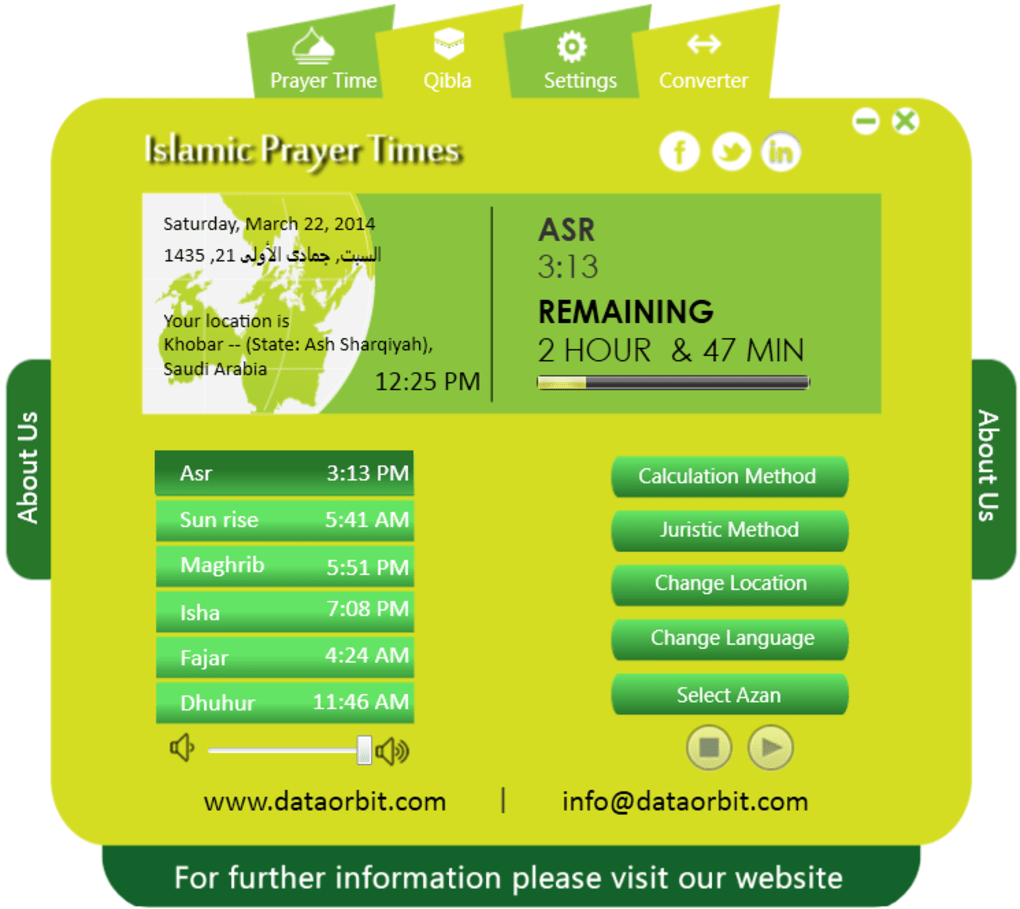 Islamic prayer time software - Download