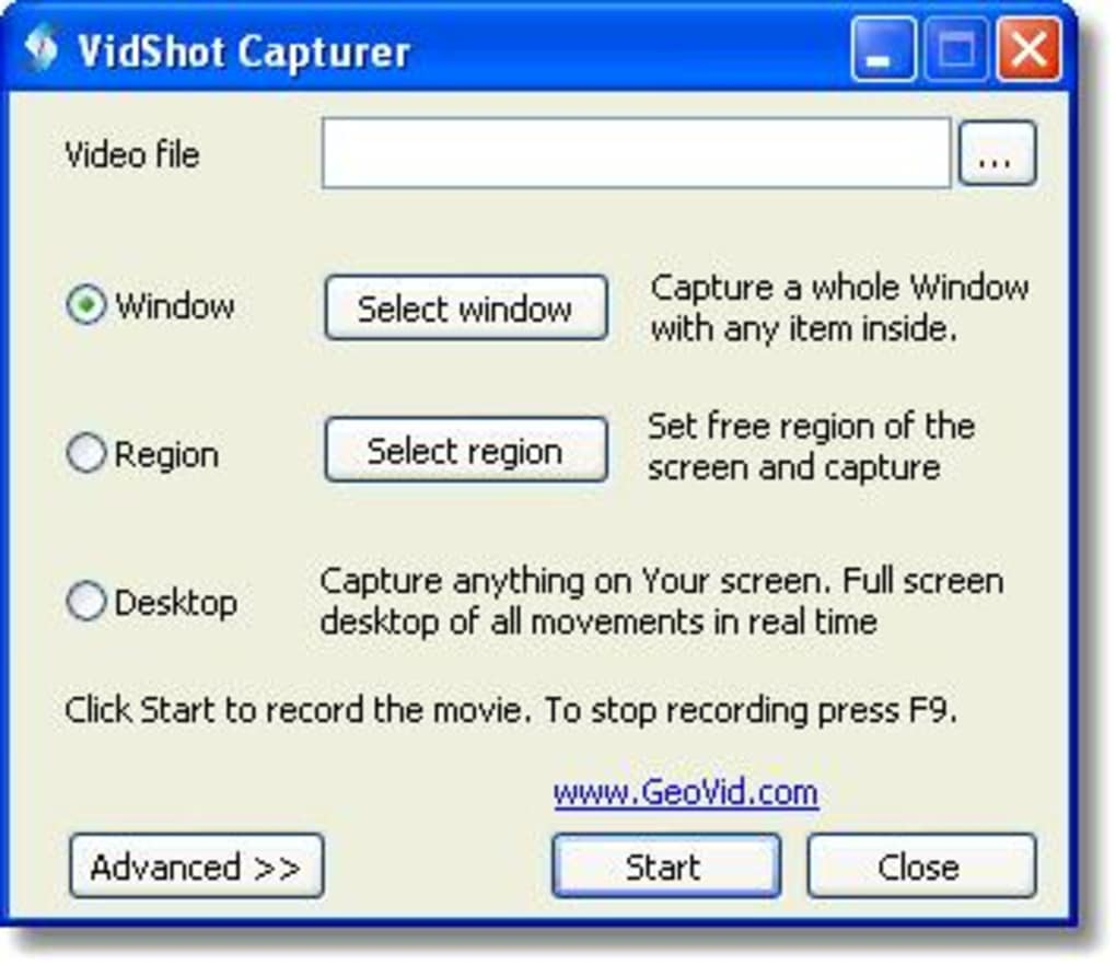 VIDSHOT CAPTURER TÉLÉCHARGER