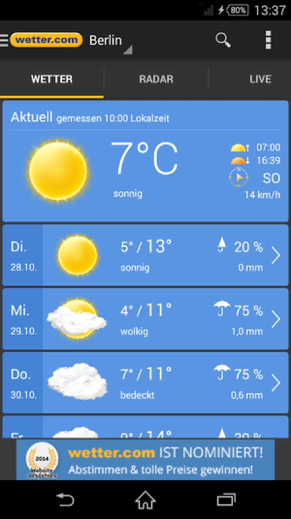 Wetter Fü