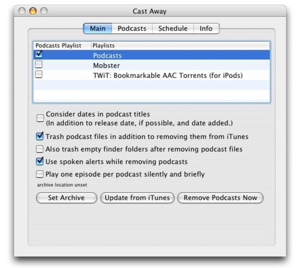 Cast Away for Mac - Download