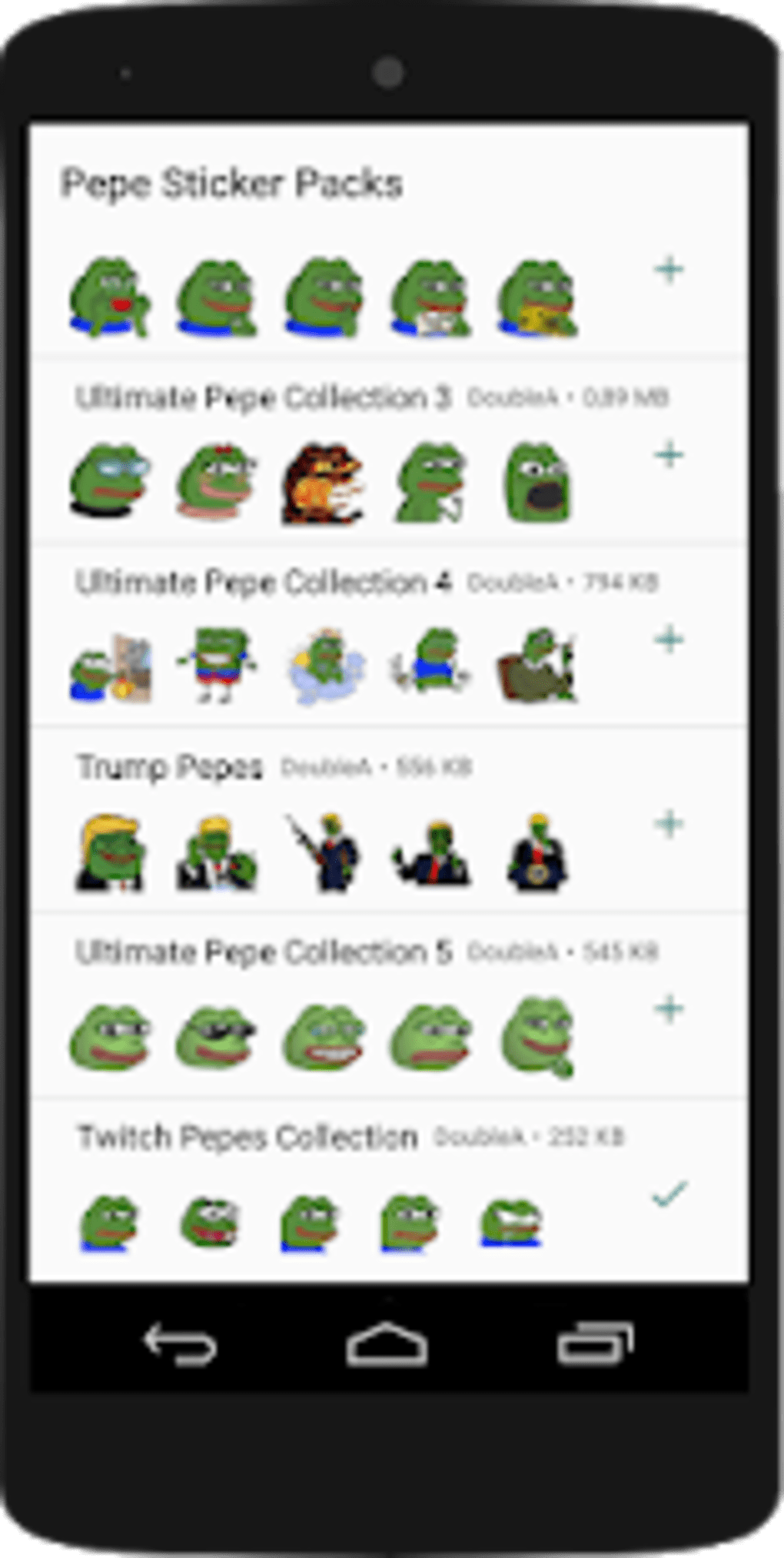 sticker collection apps for android