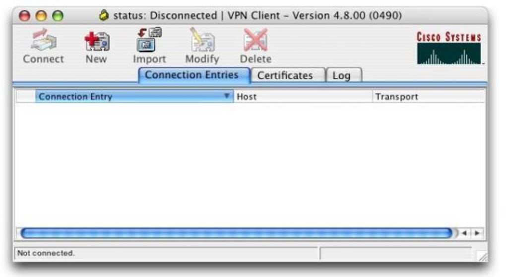 Installation Cisco VPN client on Mac (older versions)