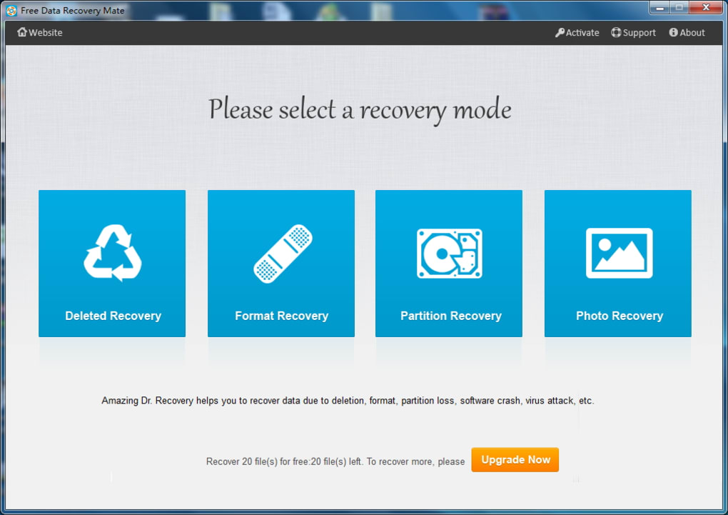 Free Data Recovery Mate