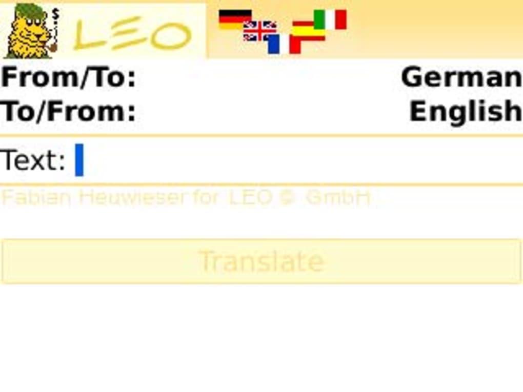 leo deutsch englisch