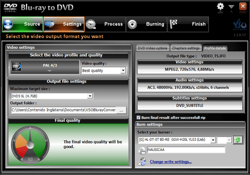 VSO Blu-ray to DVD Converter - Download