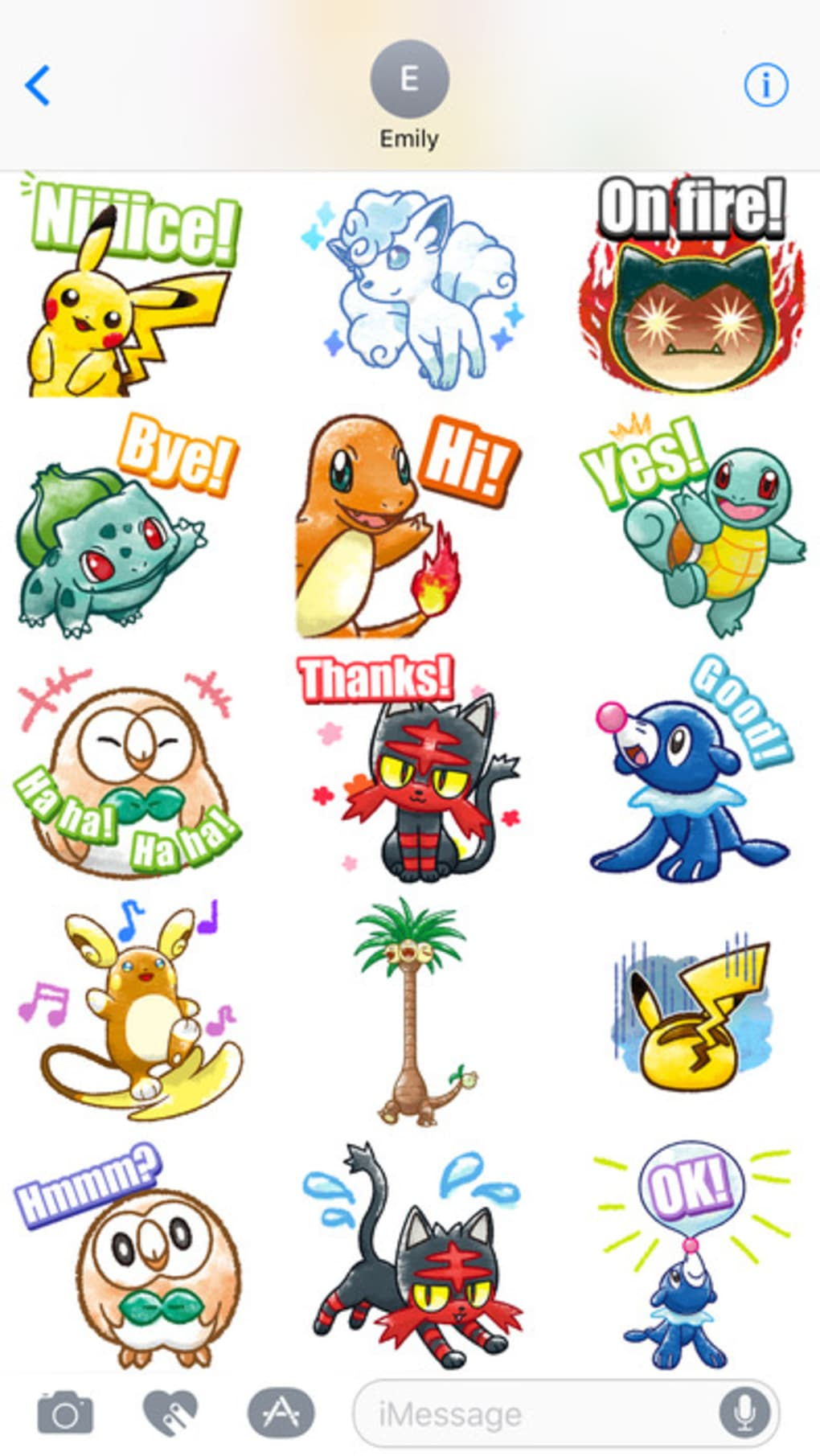 Pokemon Chat Pals for iPhone - Download