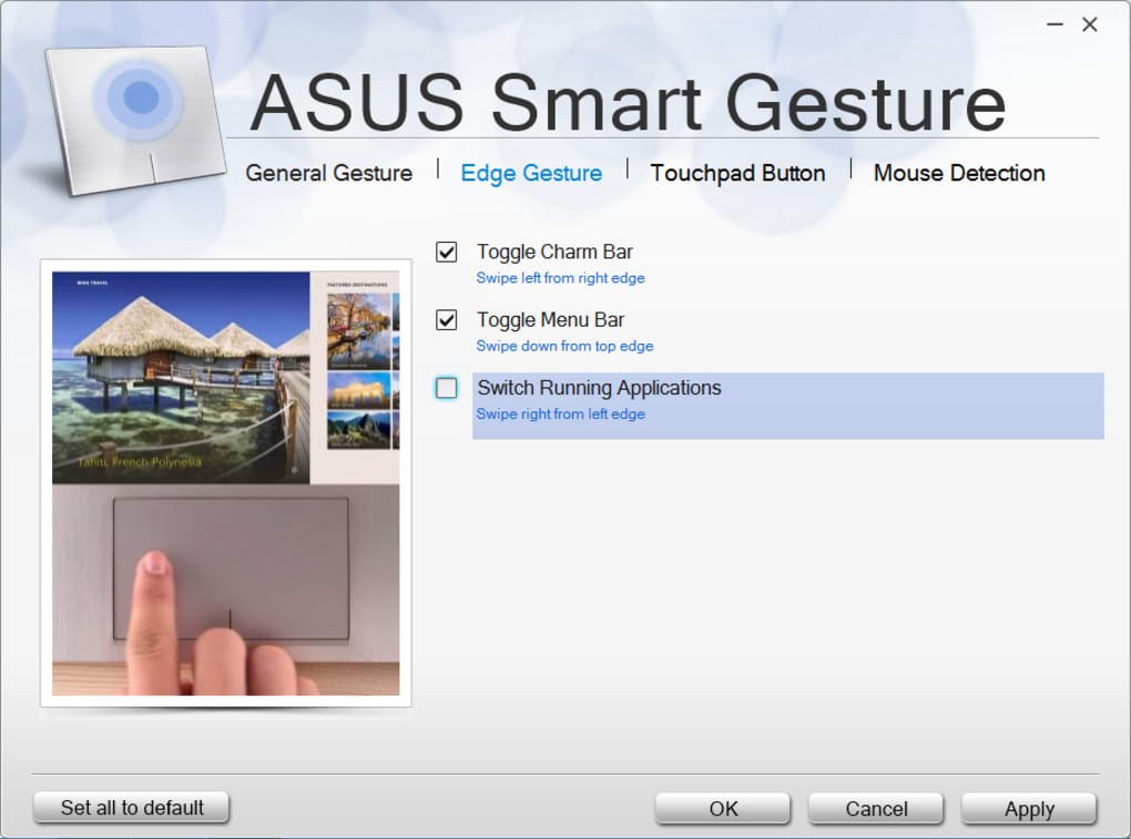 asus windows 10 smart gesture