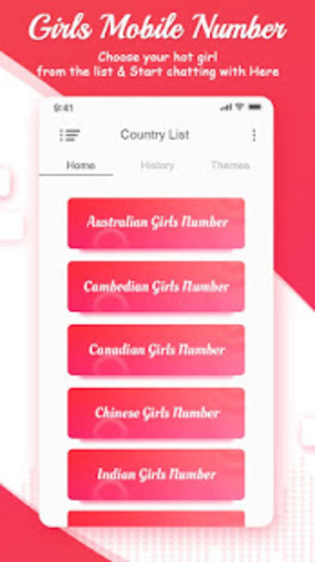 Girl numbers apk real Girls Mobile