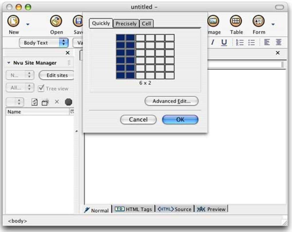 Nvu For Mac Download