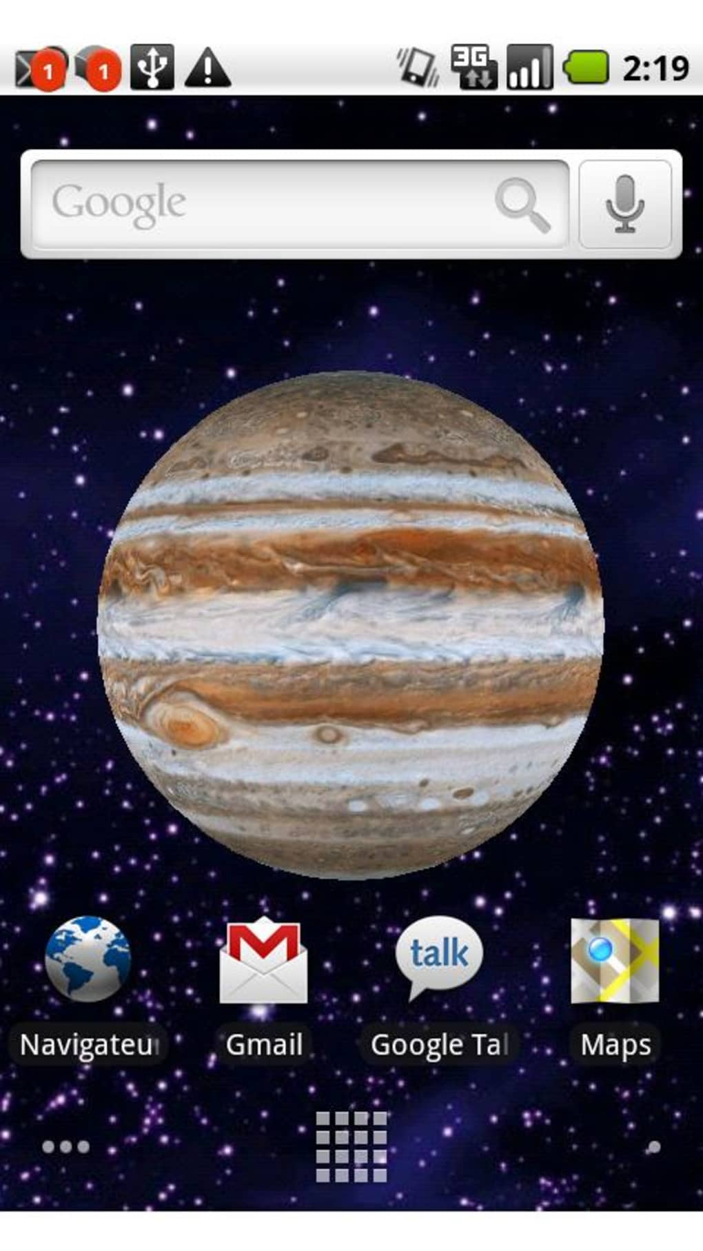 Tapety Earth Live Wallpaper na Android - Download