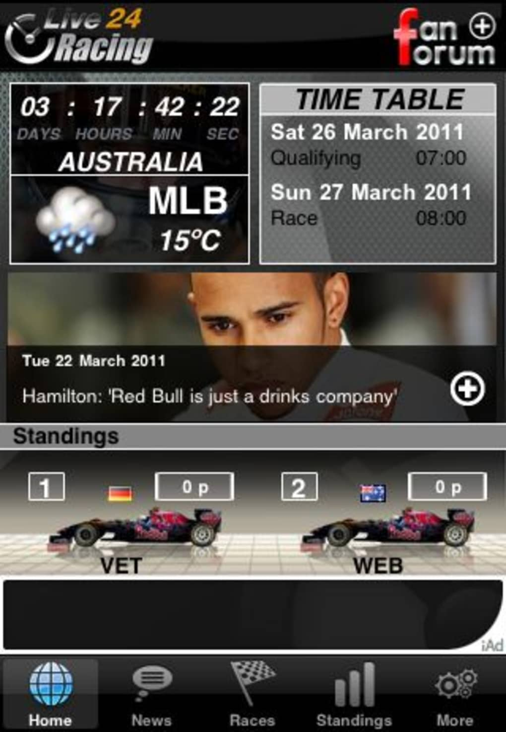 F1 2011 Live24 for iPhone - Download