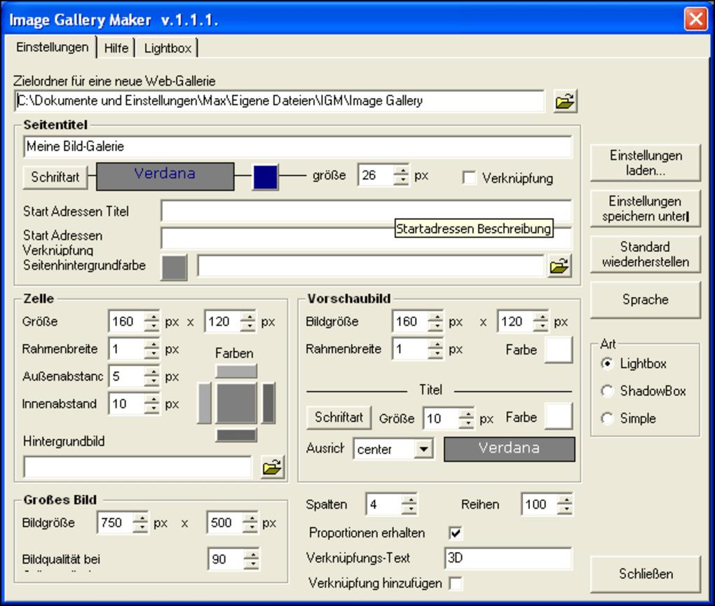 Image Gallery Maker - Download