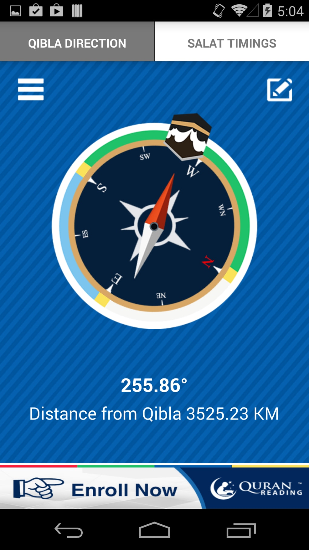 direction de la qibla gratuit