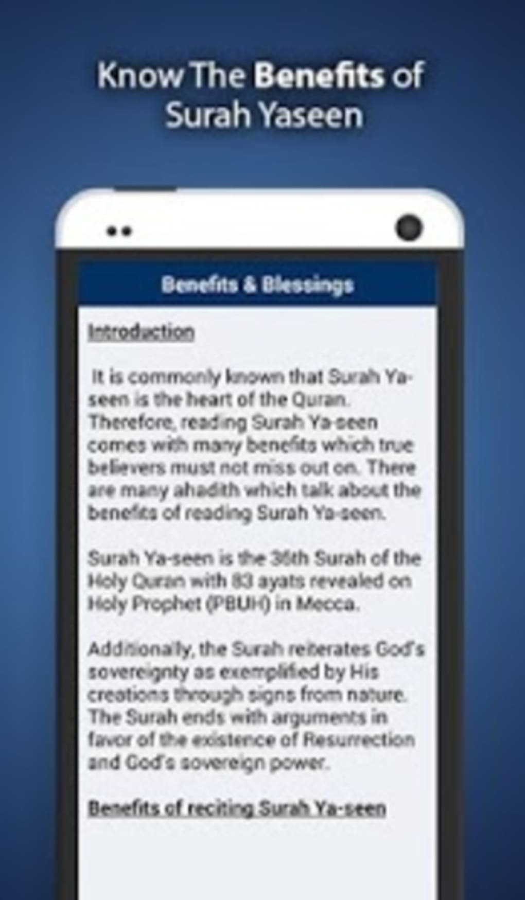 Surah Yaseen for Android - Download