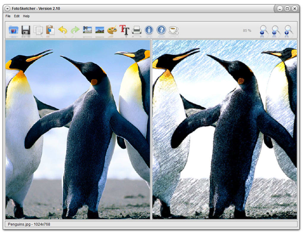 Fotosketcher free software download.