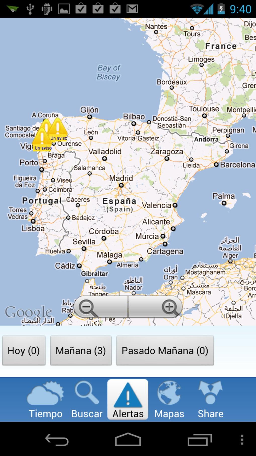 La predicción del tiempo para hoy en España