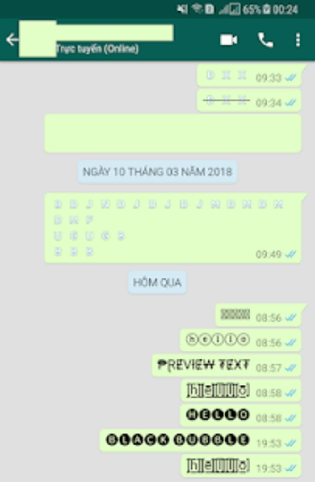 Chat Styles Cool Text Stylish Font for WHatsapp for Android - Download