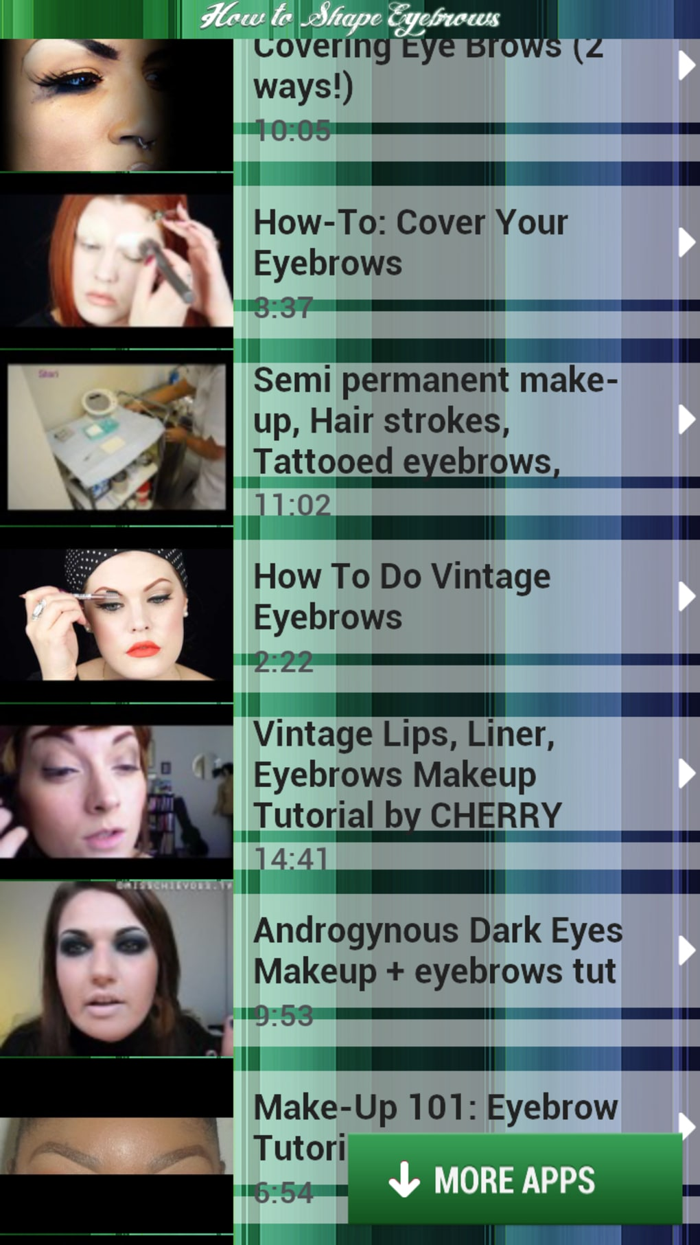 How to Shape Eyebrows for Android - Download