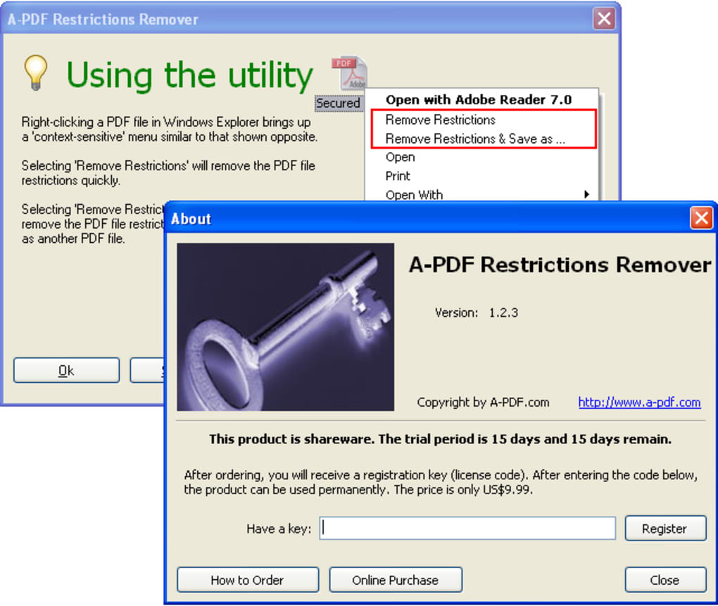 A-PDF Restrictions Remover - Download