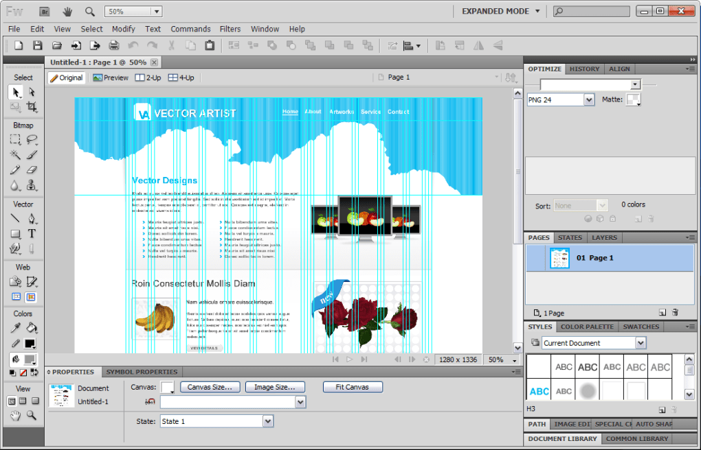 dreamweaver app templates - adobe fireworks download