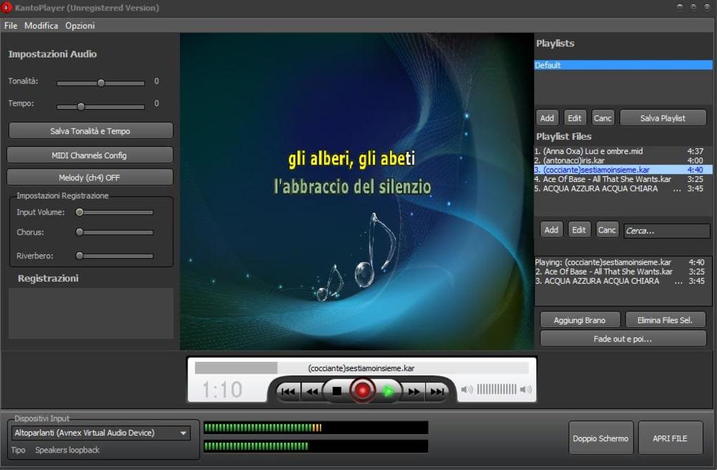 canzoni per kanto karaoke