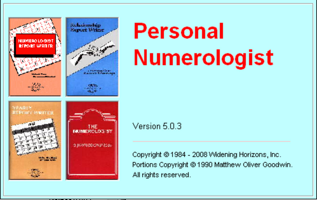Personal Numerologist Download