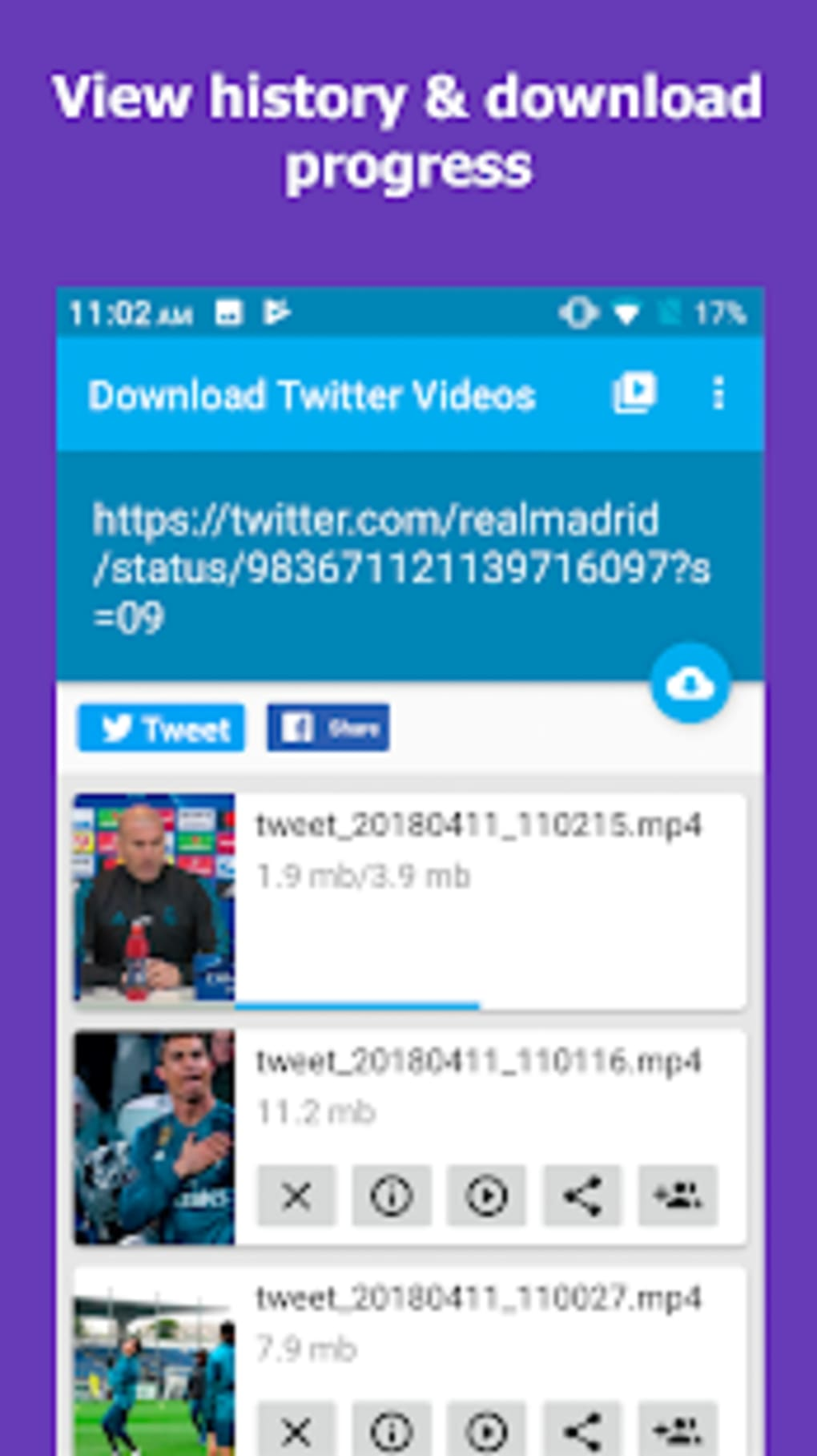 Download Twitter Videos Twitter video downloader for Android