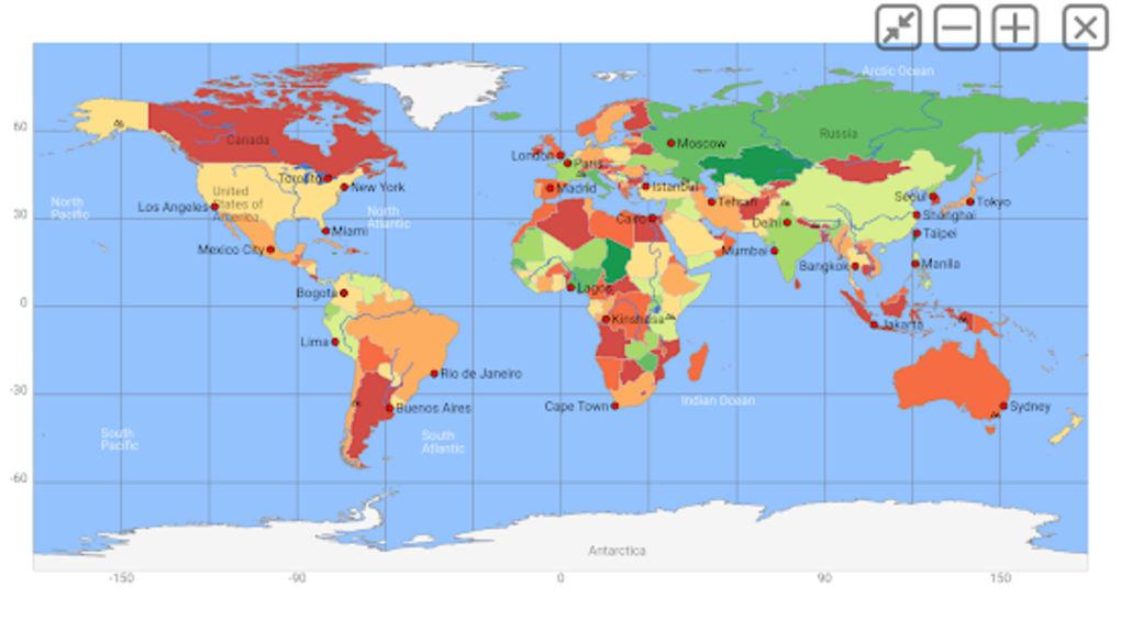 World atlas world map MxGeo Pro für Android - Download