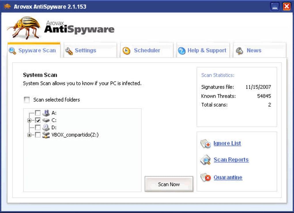 arovax antispyware softonic