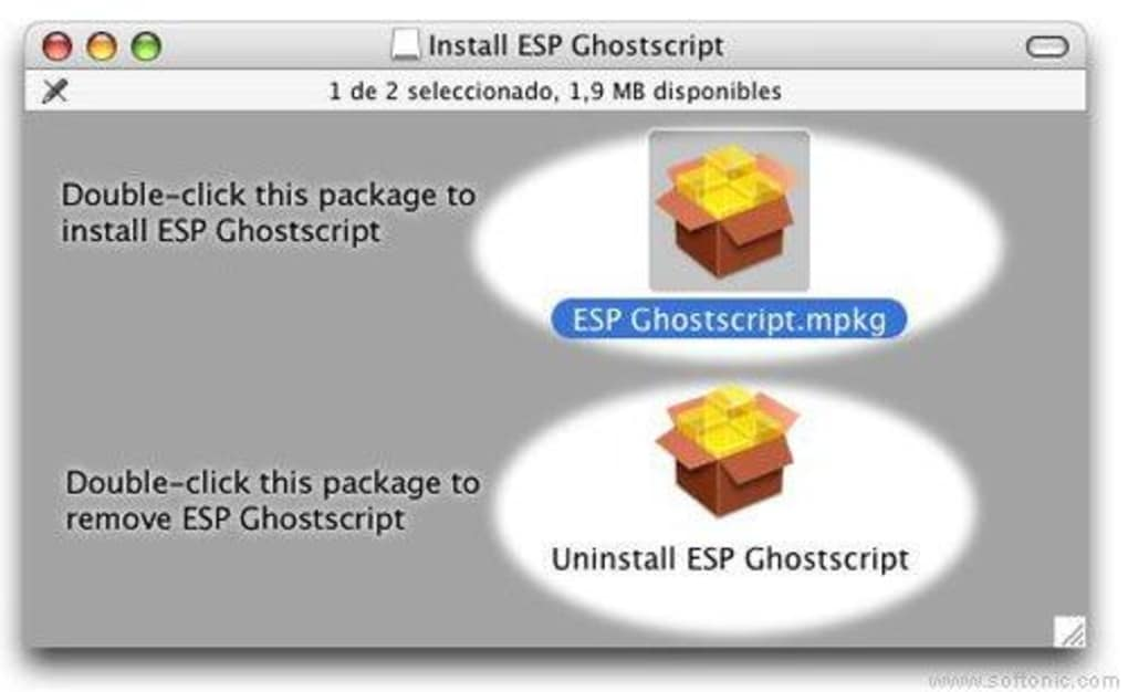 ghostscript pour mac