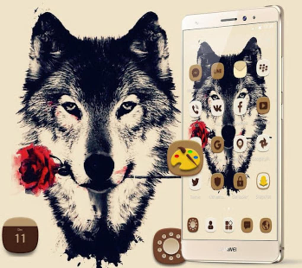 Tattoo Rose Romantic Wolf Theme