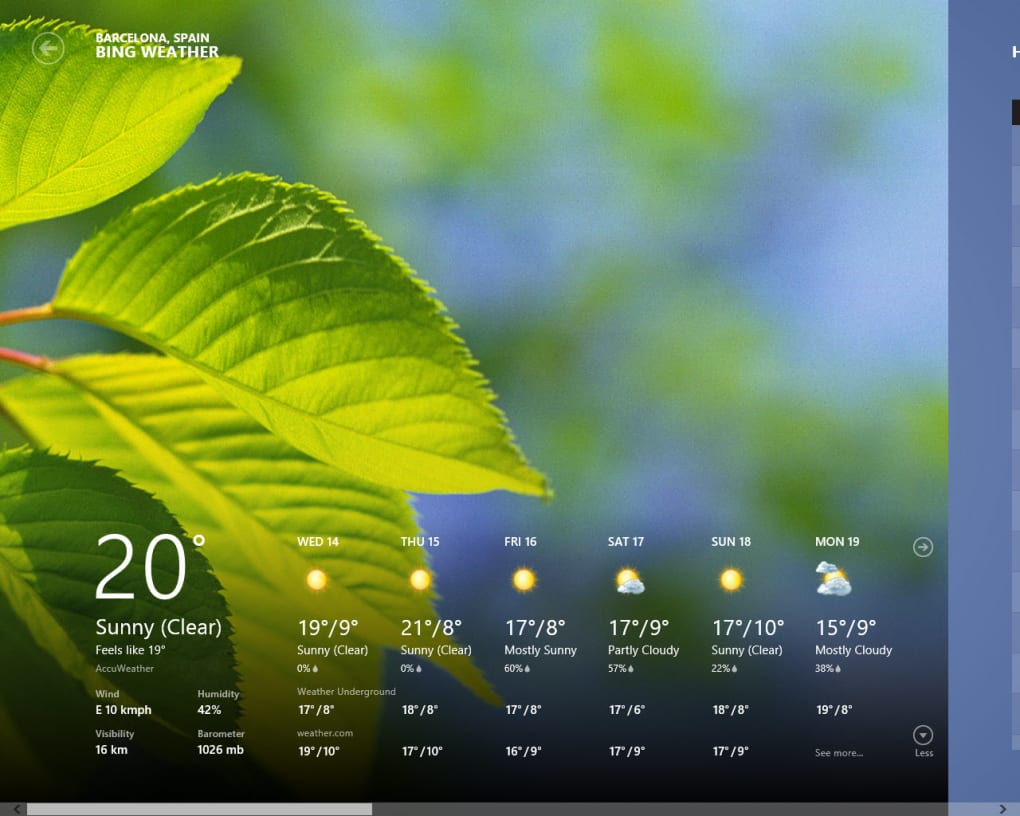 weather gadget for pc free download