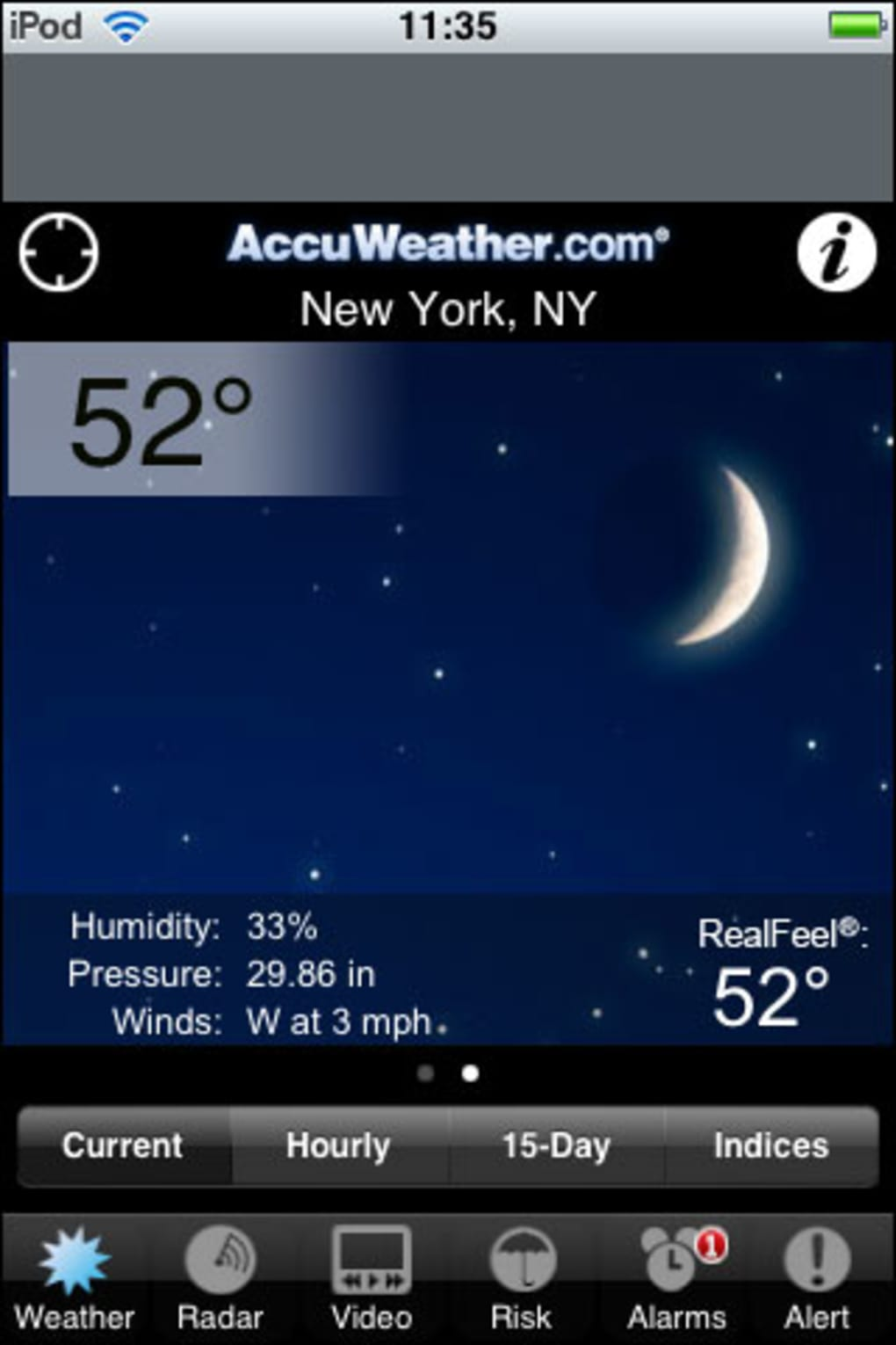 accuweather for ios 7