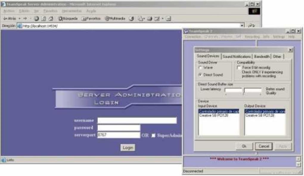 تنزيل TeamSpeak لنظام Windows teamspeak-screenshot