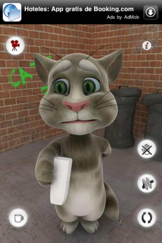 gato que repete oque vc fala para tablet
