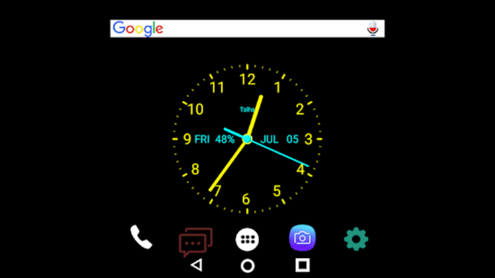 Live Analog Color Clock kit 2019 - HD wallpaper for Android