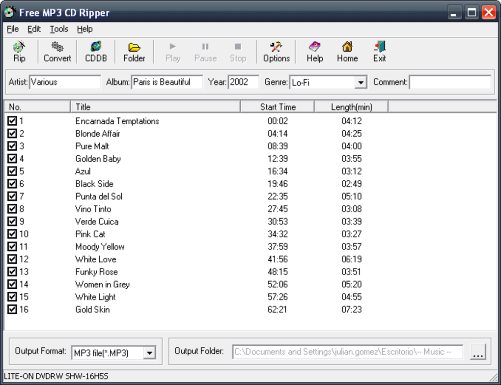 free software to rip cd to mp3