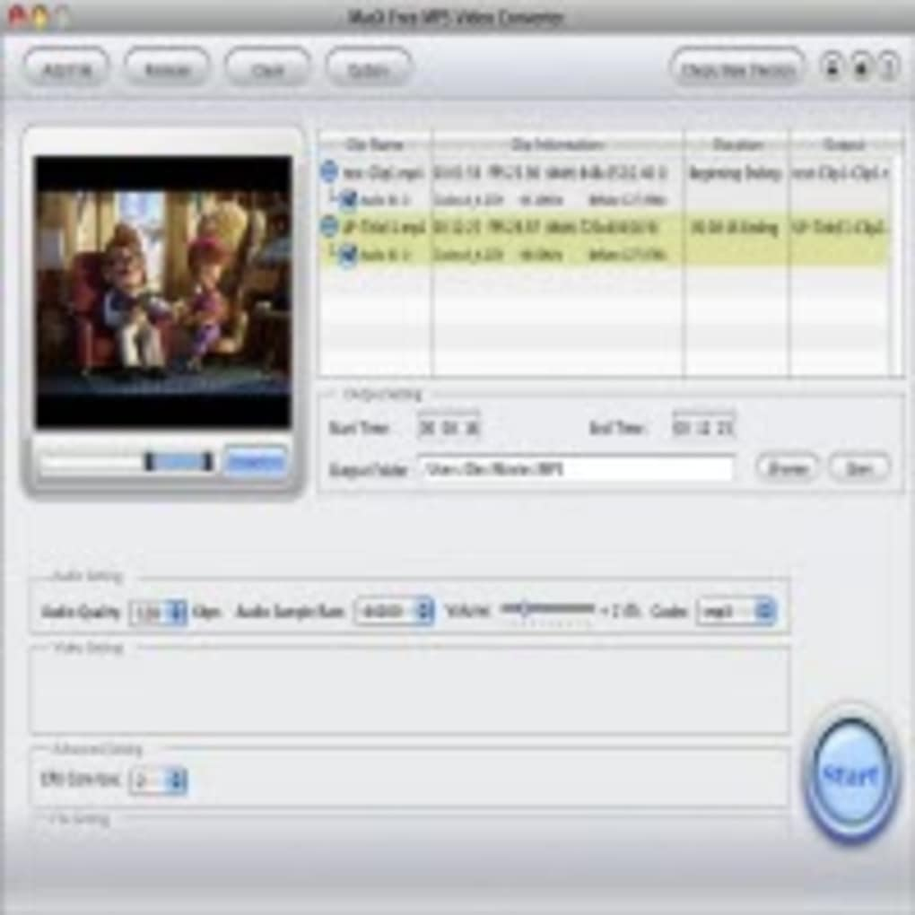 MacX Free MP3 Video Converter (Mac) - Download
