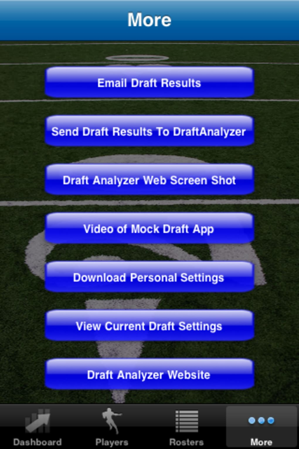 Draft Analyzer Cheat Sheet For Fantasy Football 2011 For Iphone
